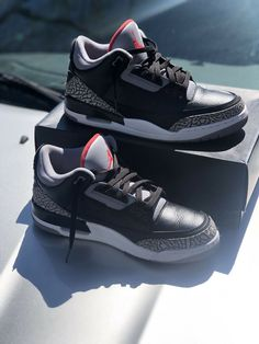 00a55d68ee47 Nike Air Jordan 3 Black Cements Size 11  fashion  clothing  shoes   accessories