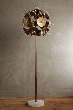 Metallic Bloom Floor Lamp - anthropologie.com#anthrofave