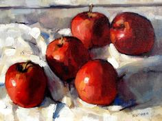 Chris Ruthven's Still life with apples
