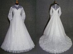 80s vintage wedding dress 1980s wedding gown by HalloVintage, €350.00  Eve of Milady in organza