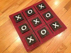 CUSTOM ORDER - Large Painted Tic Tac Toe Game Set made from Distressed Pallet Wood Reclaimed