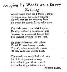 Stopping by Woods on a Snowy Evening ~ Robert Frost