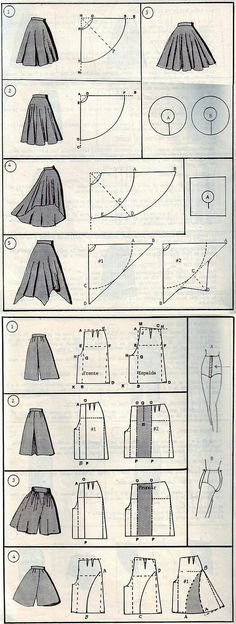 Skirt/Pants Sewing Patterns || pinterest @lauracindysuganda
