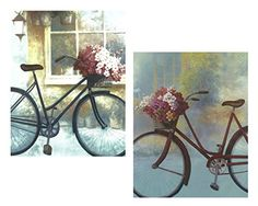 $9= Set of 2 Vintage Floral Bikes Bicycle Flower Basket Art Prints Posters 11x14 Inches Living Room Home Decor Great for Framing! wallsthatspeak http://www.amazon.com/dp/B00XKHSDEU/ref=cm_sw_r_pi_dp_rgopwb0XDCJKX