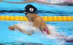 リオ五輪第6日。水泳。金藤理絵が女子200m平泳ぎで金メダル=ブラジル・リオデジャネイロ