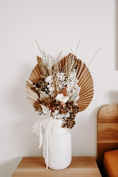 Sustainable flowers for special occasions - these flowers will keep you smiling for years, not weeks! Explore our current range of dried flowers + vessel combos in store or online x flowers Dried Flower Bouquet, Dahlia Flower, Dried Flowers, Dried Flower Arrangements, Deco Boheme, Flower Aesthetic, Deco Design, Diy Wedding Decorations, Boho Decor