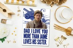Jaime Lannister Game of Thrones Father's Day Card at Everyburg Design. Someone had to go there, right?