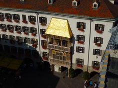Goldenes Dachl, Innsbruck Austria Innsbruck, Wine Rack, Photo Wall, Storage, Furniture, Home Decor, Homemade Home Decor, Bottle Rack, Photography