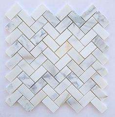 Calacatta Gold Italian Calcutta Marble Honed Herringbone 1 X 2 Mosaic Tile Oracle Tile & Stone http://www.amazon.com/dp/B00LJBTMCQ/ref=cm_sw_r_pi_dp_lXbVub03MXCYX