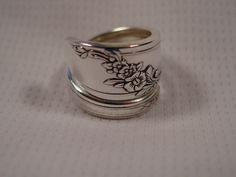 A Spoon Rings Plus Queen Bess Spoon Ring Wrap Size 7 Spoon and Fork Rings t763. $12.00, via Etsy.