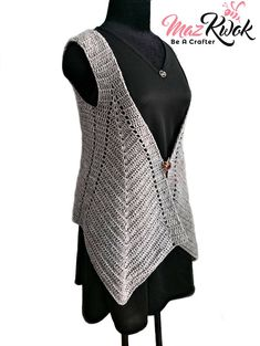 Crocheted Pointed Hem vest ( version 2 ) - free worldwide shipping - Outfits for Work - Crocheted Pointed Hem vest ( version 2 ) - free worldwide shipping - Dress Design Patterns, Womens Workout Outfits, Fitness Outfits, Fancy Blouse Designs, Dress Designs, Crochet Woman, Crochet Clothes, Trendy Fashion, Couture