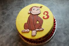 Chocolate cake with chocolate buttercream and chocolate pearls filling Curious George Cakes, Curious George Party, Curious George Birthday, 3rd Birthday Parties, Birthday Celebration, 2nd Birthday, Birthday Cakes, Birthday Ideas, Chocolate Buttercream