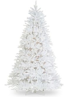 Dunhill Rosdorf Park White Fir Artificial Christmas Tree with Clear Lights Christmas Tree Clear Lights, White Artificial Christmas Tree, Types Of Christmas Trees, Pine Christmas Tree, Flocked Christmas Trees, Christmas Decorations, Holiday Decor, Xmas Trees, Christmas Palace