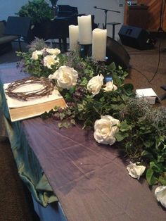 Easter Decorations for Church Sanctuary | Sanctuary decor I did for my church this weekend