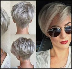 New short hairstyles women 2019 trend - new site-Neue Kurzhaarfrisuren Damen 2019 Trend – New Site New short hairstyles women 2019 trend – hairstyles – - Short Silver Hair, Short Grey Hair, Short Blonde, Short Hair Cuts For Women, Short Hair Styles, Gray Hair, Blonde Pixie, Brown Hair, New Short Hairstyles
