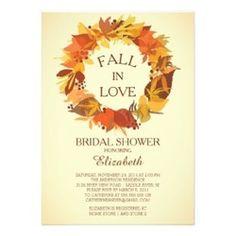Printable fall bridal shower invitation by e three design studio fall in love autumn bridal shower invitations filmwisefo