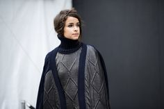 Miroslava Duma wearing Tommy Hilfiger Fall 2013 Women's Collection in New York over #nyfw
