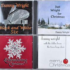 Danny Wright 6 #Piano Cd Lot #Christmas Dallas Brass Choir Black White 2+6 Curtain