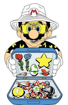 Tagged with gaming, mario; Fear and Loathing in Super Mario World Fear And Loathing, Trippy, Game Art, Video Game Art, Art, Cartoon, Mario, Fan Art, Pop Art