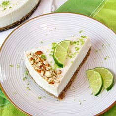 "Raw Vegan Key Lime ""Cheesecake"""