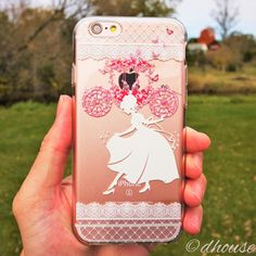 MADE IN JAPAN Soft Clear TPU Case Cinderella Slipper design for iPhone 6 & iPhone 6s