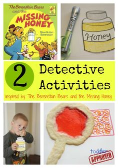 2 Detective Activities inspired by The Berenstain Bears and the Missing Honey from Toddler Approved. Great for a mystery party! Reading Activities, Literacy Activities, Activities For Kids, Police Activities, Activity Ideas, Reading Skills, Toddler Fun, Toddler Crafts, Kids Crafts