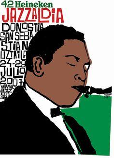 San Sebastian's Jazz Festival poster 2007