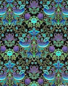 eQuilter Tree Of Life - Bird Kaleidoscope - Black/Gold