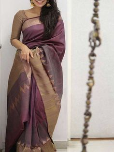 Poly Silk Maroon Saree with Matching Color silk Blouse. It contained of Printed. The Blouse which can be customized up to bust size This Unstitch Saree Length mtr including mtr Blouse. Mysore Silk Saree, Silk Saree Kanchipuram, Indian Silk Sarees, Indian Beauty Saree, Georgette Sarees, Kurti, Silk Cotton Sarees, Churidar, Cotton Silk