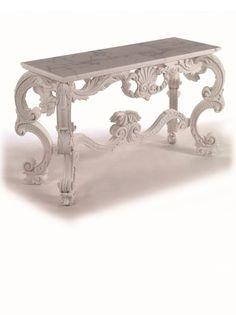 Baroque console and mirror