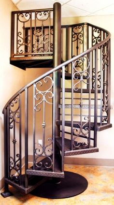 Spiral Staircase. Wrought Iron StaircaseRailing DesignStair ...