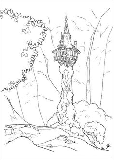 Disney Rapunzel tangled Coloring Pages  Free Coloring Pages For