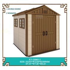Kinying plastic mobile house is designed for easy and simple travel accommodation Plastic Storage Cabinets, Plastic Kitchen Cabinets, Plastic Storage Sheds, Plastic Sheds, Large Cabinets, Garden Sheds For Sale, Outdoor Garden Sheds, Outdoor Storage Sheds, Backyard Sheds
