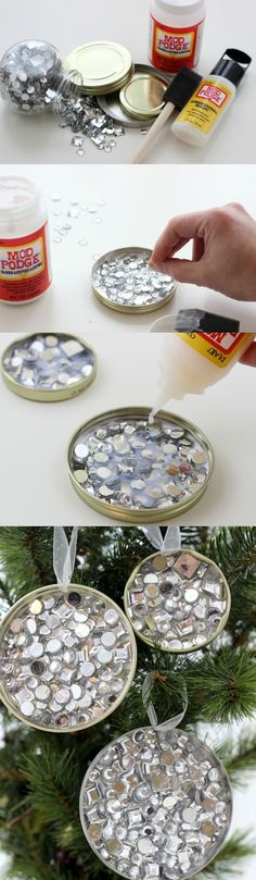 Looking for a great budget Christmas idea but don't have a lot of money to spend? You'll love this recycled ornament craft made from jar lids!