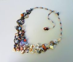 Freeform Peyote Necklace Tears of the Moon