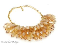 Scintillant Boutique full crystal necklace in Amber available via our facebook page www.facebook.com/Scintillantjewellery