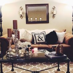 Apartment living decor for cheap. - Home Decorations Ideas nice Apartment living decor for cheap. Glam Living Room, Cozy Living, Home And Living, Living Room Decor, Simple Living, Living Area, Diy Home Decor Rustic, Cheap Home Decor, Décor Boho