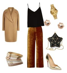 """""""Friday date night"""" by yummycaramel on Polyvore featuring A.L.C., Raey, MaxMara, Miss Selfridge, Versus, River Island, Christian Louboutin and Aspinal of London"""