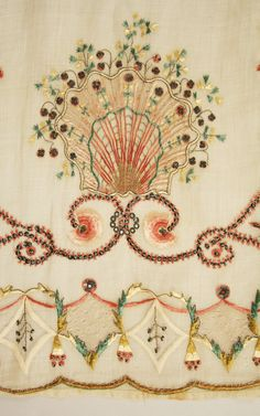 Spanish piña cloth dress circa1810-12