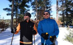 Cross-country skiing in Boulder Junction