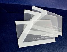 transparent business cards - Google Search