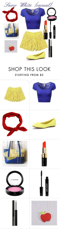 """""""Snow White- casual"""" by anna-oliphant-dun on Polyvore featuring Broadway & Broome, Flower Princess, Bobbi Brown Cosmetics, MAC Cosmetics, Lord & Berry, NYX, disney and snowwhite"""