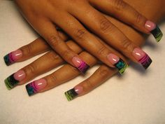 stripes and flowers - Nail Art Gallery