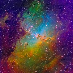 M16 Eagle Nebula Mapped Color - March 2011