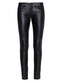 Low-rise skinny faux-leather trousers | Saint Laurent | MATCHESFASHION.COM US