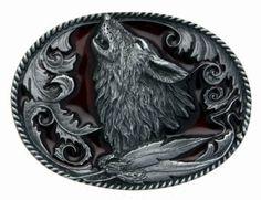 Howling Wolf Belt Buckle