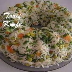 Rice Recipes, Salad Recipes, Cooking Recipes, 300 Calorie Lunches, Turkish Recipes, Ethnic Recipes, Menu Dieta, Good Food, Yummy Food