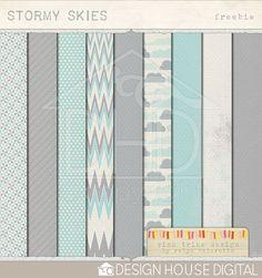 Stormy Skies - Digital Paper  By Robyn Meierotto