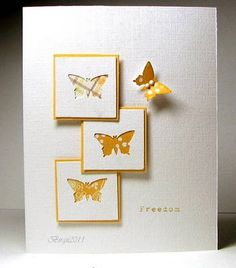 Negative space butterflies