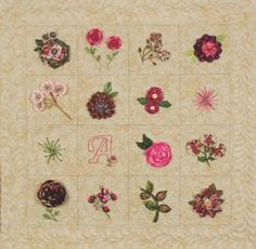 Stitch Sampler Block of the Month from Applique and Embroidery Fundamentals